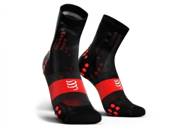 Calcetines Compressport Pro Racing V3.0 Ultralight Bike - Noir / Rouge