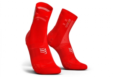 Paire de Chaussettes Compressport Pro Racing V3.0 Ultralight Bike Rouge