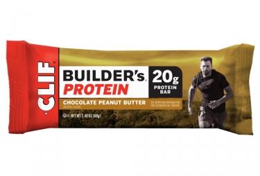 Barre Protéinée CLIF BAR Builder's Chocolat Beurre de Cacahuète 68g