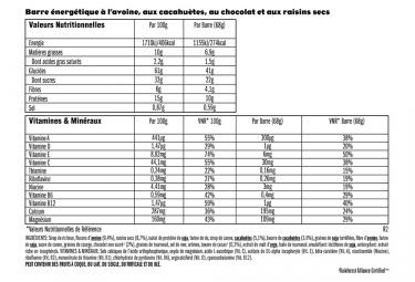 Barre Énergétique CLIF BAR Avoine Cacahuètes Chocolat Raisins Secs 68g