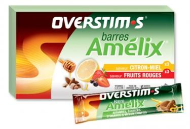 Overstims 6 barritas energéticas surtidos Amelix
