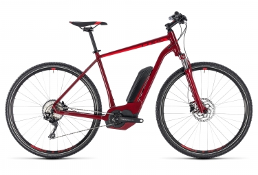 Cube 2018 Cross Hybrid Pro 500 Hybrid Touring Bike 700 mm Shimano Deore 10S Red