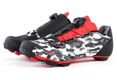 Bontrager CAMBION MTB Shoes Camo/Grey/Red