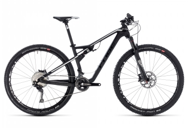 MTB Full Suspension Cube AMS 100 C:68 Race Shimano XT 11V 29 Nero Bianco 2018