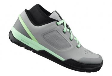 Paire de chaussures vtt femme shimano sh gr700wg gris vert 36