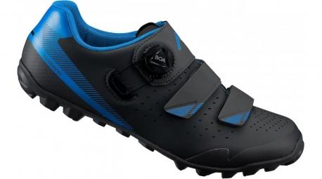 Paire de Chaussures de Vélo SHIMANO ME400 Noir Bleu