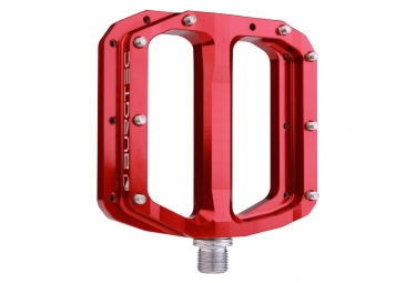 Burgtec Penthouse Flat Pedals MK4 Steel Axles Red