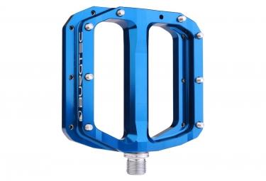 Paire de pedales plates burgtec penthouse mk4 axe acier bleu