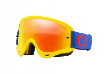 Oakley Mask O-Frame MX Yellow Blue / Fire Iridium / Ref. OO7029-46
