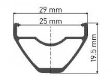 Rueda trasera DT Swiss X1900 Spline 27.5 '' / 25mm | Impulso 12x148mm | Sram XD 2019
