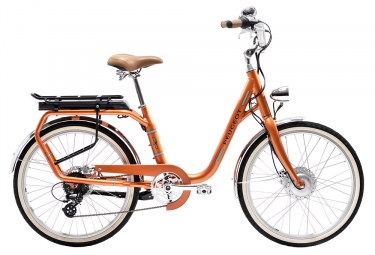 Velo de ville electrique peugeot elc01 shimano tourney altus 8v 24 orange 2019 uniqu
