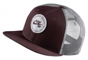 Nike SB Trucker Hat Cap Burgundy Crush Gunsmoke