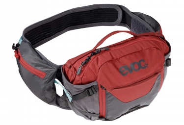 Evoc Hip Pack Pro 3L Cinturón de hidratación Carbon Grey Chili Red + 1.5 L vejiga