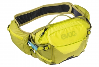 Evoc Hip Pack Pro 3L Hydration Belt Sulphur Yellow Moss Green + 1.5 L Bladder