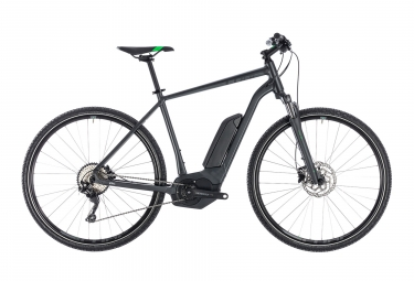 Cube 2018 Cross Hybrid Pro 500 Hybrid Touring Bike 700 mm Shimano Deore 10S Dark Grey Neon Green