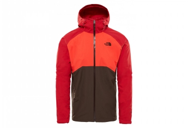 Chaqueta impermeable The North Face Stratos roja