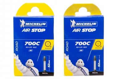 Packs Michelin Power Endurance 2 Road Tyre Folding 23mm + A1 2 Inner Tube 18-25mm / 52mm Valve