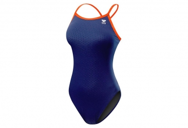 Tyr Hexa Diamondfit Women's Swimsuit Navy Orange