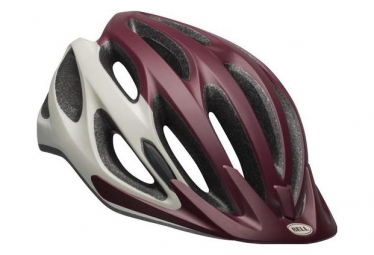 Casque bell coast blanc bordeaux 50 57 cm