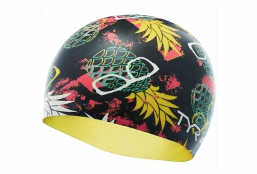 TYR PINEAPPLE Swim Cap Black Yellow