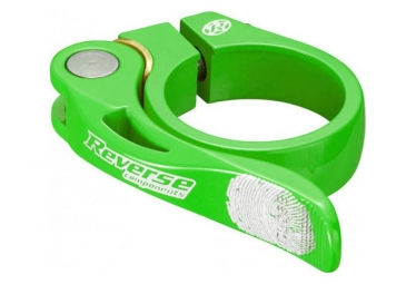 Collier de selle reverse long life diametre 34 9 mm vert