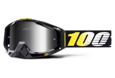 100% Racecraft Cosmos 99 Goggles Black Yellow Mirror Silver Lens