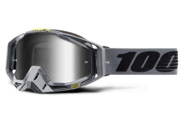 Masque 100 racecraft nardo gris ecran miroir argent