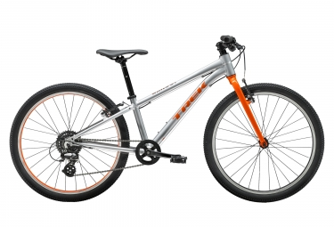 Trek Wahoo 24 Kids Bike 24'' Argent / Orange