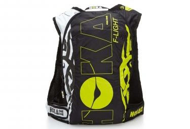 Sac de course hoka f light 7l noir blanc jaune s