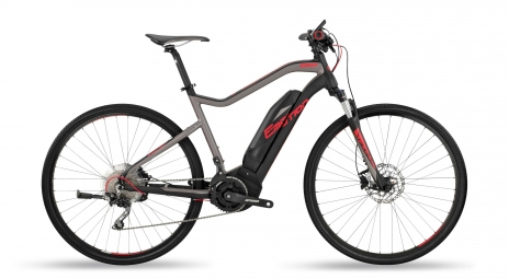 Bicicleta Híbrida Eléctrica BH Rebel Cross Lite 28'' Gris / Noir