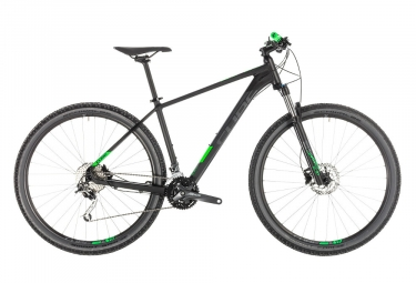 Cube Analog Hardtail 27.5'' MTB 2019 Shimano 9S Black / Green