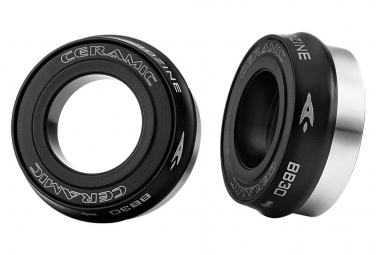 Aerozine BB30 towards 24mm ceramic Bottom MTB Bracket Black