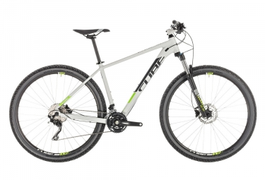 Vtt semi rigide 2019 cube attention 29 shimano deore 10v gris vert 17 pouces 170 180 cm