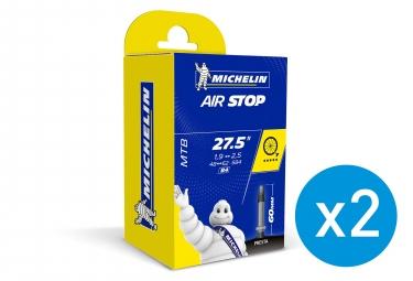 Michelin 2 BUTYL B4 Inner Tubes 27.5 x 1.90/2.50 presta 60 mm