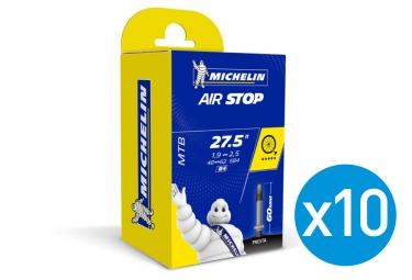 Michelin 10 Butyl B4 Inner Tubes 27.5 x 1.90/2.50 presta 60 mm
