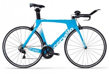 Velo de triathlon cervelo p2 rim shimano 105 11v 2019 bleu blanc 54 cm 170 180 cm
