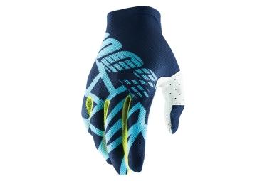 100% CELIUM 2 Glove Navy Ice Blue Fluo Lime