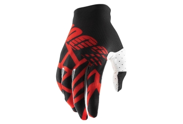100% CELIUM 2 Glove Black Red White