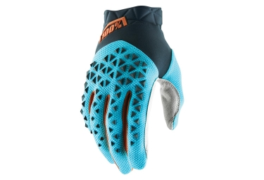 Guantes 100% AIRMATIC Steel Grey Ice Blue