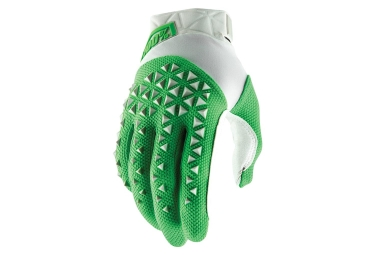 100% AIRMATIC Gloves Silver Fluo Lime