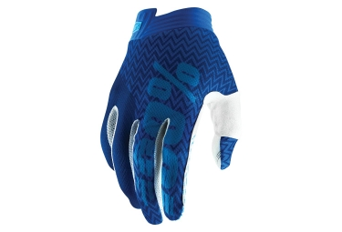 100% iTRACK Glove Blue Navy Youth