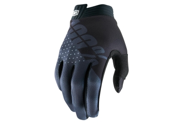 100% iTRACK Glove Black Charcoal Youth