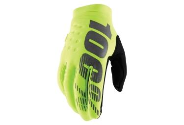 100% Brisker Gloves - Jaune