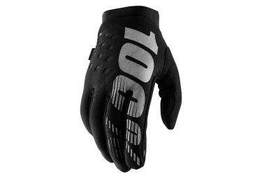 100% BRISKER Gloves Black Grey