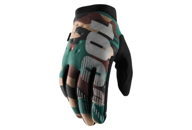100% BRISKER Gloves Camo Black