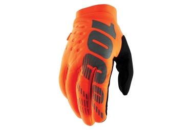 100% BRISKER Glove Fluo Orange Black