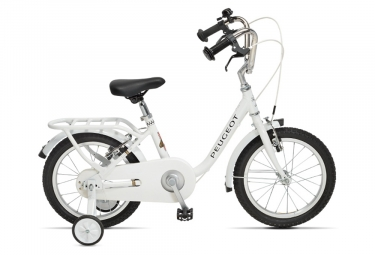 Velo enfant peugeot lj16 16 single speed blanc 4 a 6 ans