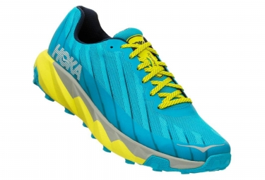 Hoka One One Shoes Trail TORRENT Blue Yellow Men
