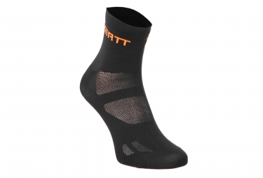 Neatt 7.5cm Socks Black/Orange