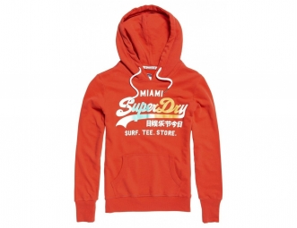 Sweat à Capuche Enfant Superdry Vintage Logo Surf Lite Flare Red